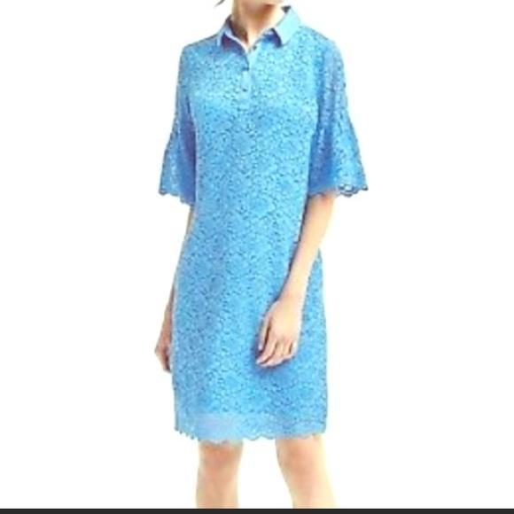 0267e81f Banana Republic Dresses | Womens Lace Polo Dress Petite L | Poshmark